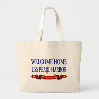 Welcome Home USS Pearl Harbor Jumbo Tote Bag