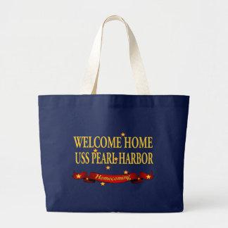 Welcome Home USS Pearl Harbor Jumbo Tote Bag