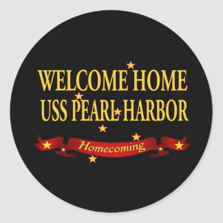 Welcome Home USS Pearl Harbor Round Sticker