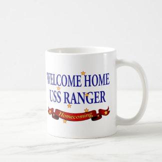 Welcome Home USS Ranger Basic White Mug