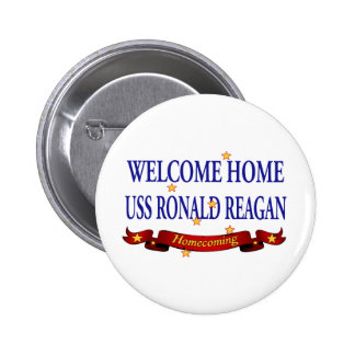 Welcome Home USS Ronald Reagan 6 Cm Round Badge