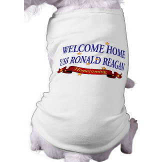 Welcome Home USS Ronald Reagan Doggie Tshirt