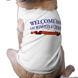 Welcome Home USS Winston S. Churchill Sleeveless Dog Shirt