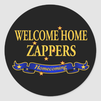 Welcome Home Zappers Round Sticker