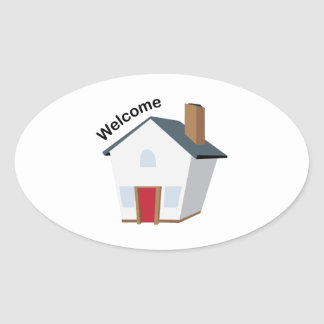 Welcome House Oval Sticker