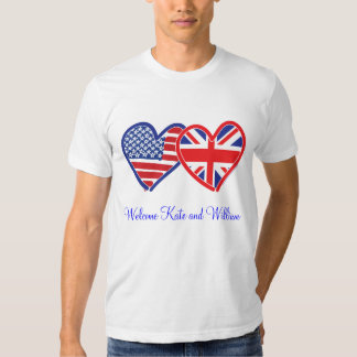 Welcome Kate & William/ Royal Wedding Tshirt