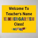 Welcome Kindergarten (customisable) Poster