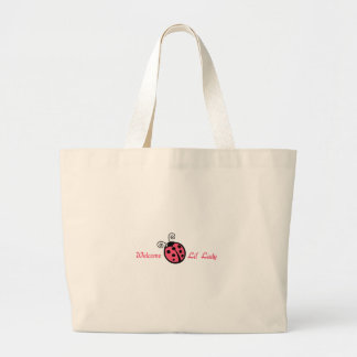 WELCOME LIL LADY APP TOTE BAGS