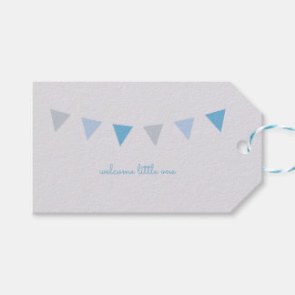 Welcome Little One Gift Tag {Light Blue and Gray}