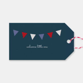 Welcome Little One Gift Tag {Navy and Red}