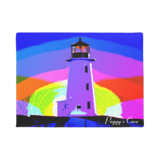 Welcome Mat Peggy's Cove Lighthouse Door Mat