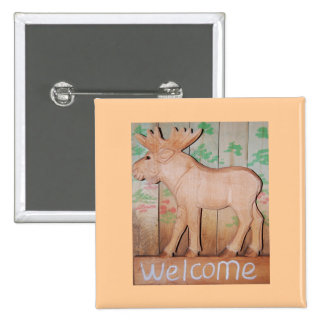 Welcome Moose Button