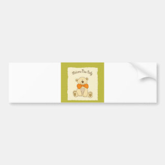 Welcome New Baby Bumper Sticker