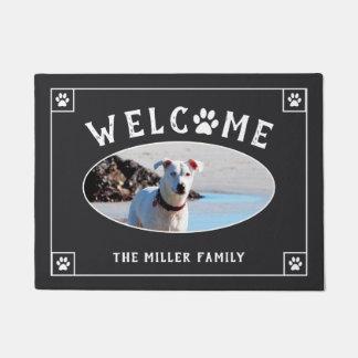 Welcome Paw Print - Dog Photo Doormat
