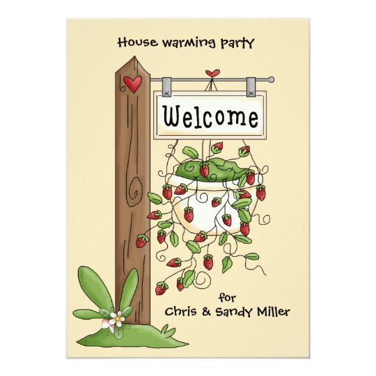 Welcome Post House Warming Party Invitation