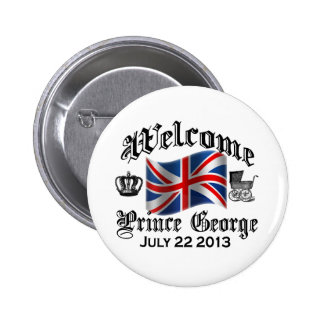 Welcome Prince George July 22 6 Cm Round Badge