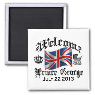Welcome Prince George July 22 Square Magnet