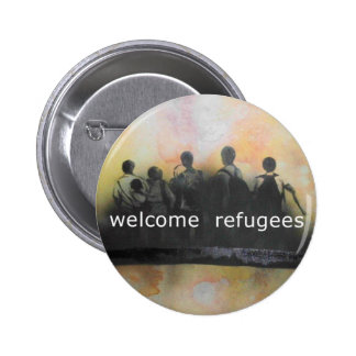 Welcome refugees badge