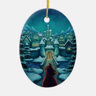 welcome santa holiday christmas ornament