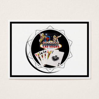 Welcome Sign Black Poker Chip Business Card