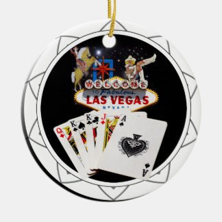 Welcome Sign Black Poker Chip Christmas Ornament