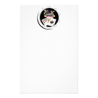 Welcome Sign Black Poker Chip Personalized Stationery