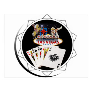Welcome Sign Black Poker Chip Postcard
