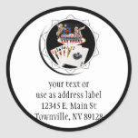 Welcome Sign Black Poker Chip Round Stickers