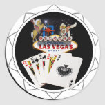 Welcome Sign Black Poker Chip Stickers