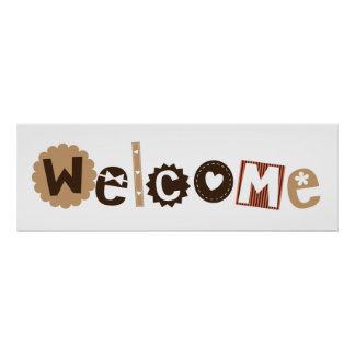 Welcome sign for kids room poster