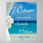 Welcome Sign | Ocean Beach Summer Wedding