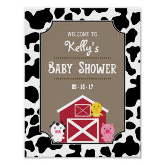 Welcome Sign / Poster - Farm Animals