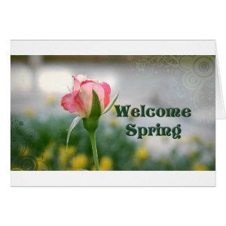 Welcome Spring 2 h- store Greeting Card