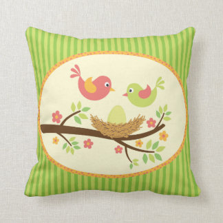 Welcome Spring Baby Birdies Pillow