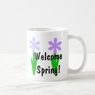 Welcome Spring! Basic White Mug
