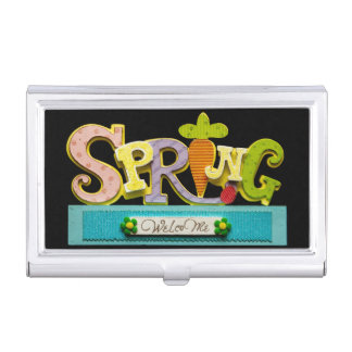 Welcome Spring Business Card Case