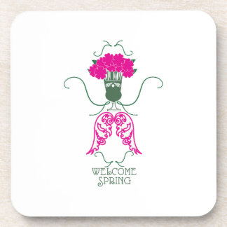 Welcome Spring Drink Coasters