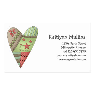Welcome Spring · Heart Business Card Template