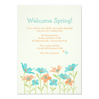Welcome Spring Invitation