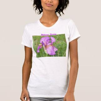 Welcome Spring, Lavendar Iris Tshirt