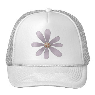 Welcome Spring · Mauve Flower Trucker Hat