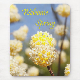 Welcome Spring Mouse Mat