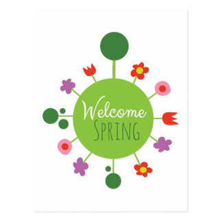 Welcome Spring Postcard