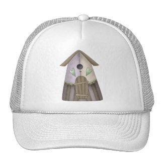 Welcome Spring · Purple Birdhouse Mesh Hats