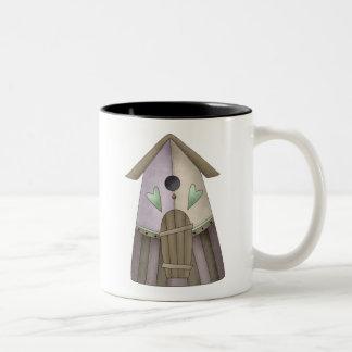 Welcome Spring · Purple Birdhouse Mug