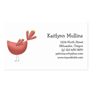Welcome Spring · Red Bird Business Card Templates