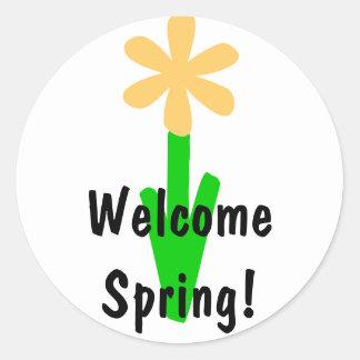 Welcome Spring! Round Sticker