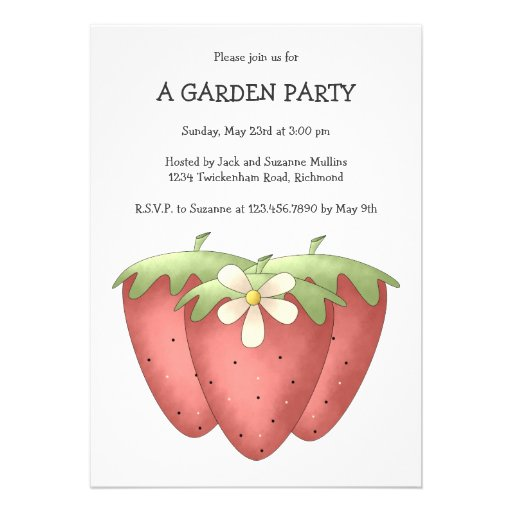 Welcome Spring · Strawberries & Flower Custom Announcement