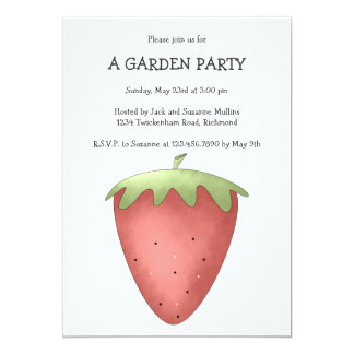 Welcome Spring · Strawberry 13 Cm X 18 Cm Invitation Card