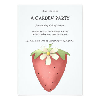 Welcome Spring · Strawberry & Flower 13 Cm X 18 Cm Invitation Card